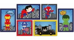 SUPER HERÓIS BABY KIT PLACAS DECORATIVAS INFANTIL