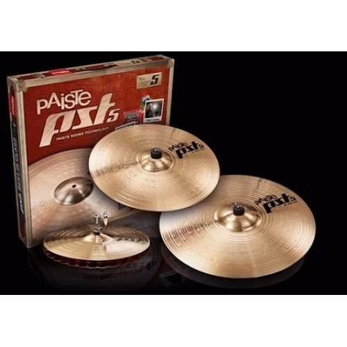 Paiste Pst5 Rock Set Hi-hat 14 +crash 16 +ride 20 Platillos