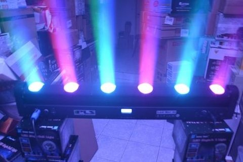 Barra Led Movil- Bar 60 Pls Dmx-6 Lentes-