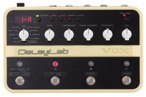 Vox Delaylab Pedal Delay 30 Presets 4 Switch Looper Guitarra