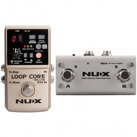 Nux Loop Core Deluxe Pedal Looper True By Pass
