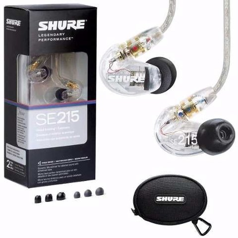 Auricular Intraural In Ears Shure Se215 Con Cable Removible