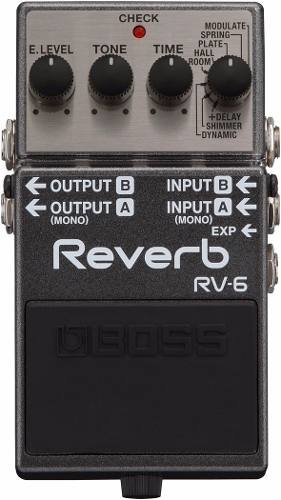 Boss Rv-6 Reverb Stereo Digital Pedal Para Guitarra