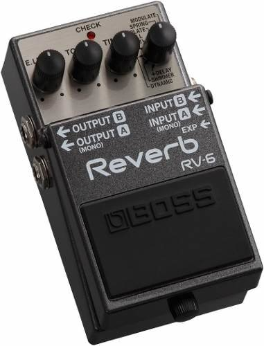 Pedal Digital Boss Reverb Delay Rv6