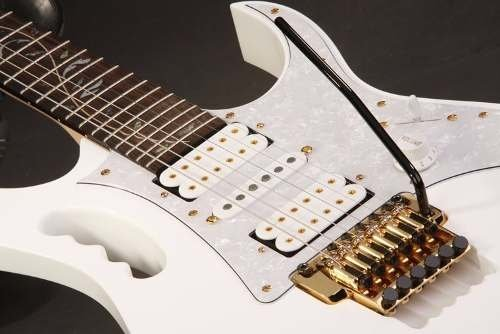Ibanez Jem 7v Wh Guitarra Electrica Color Blanco