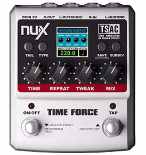 Nux Time Force Pedal Efecto 11 Fx Delay Guit.y Bajo