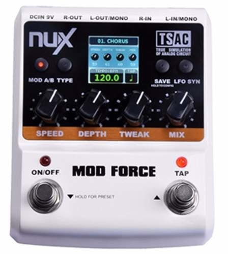 Pedal  Nux Force Mode Chorus Flange Guitarra