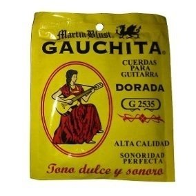 Encordado Cuerdas Guitarra Dorada G 2535 Gauchita
