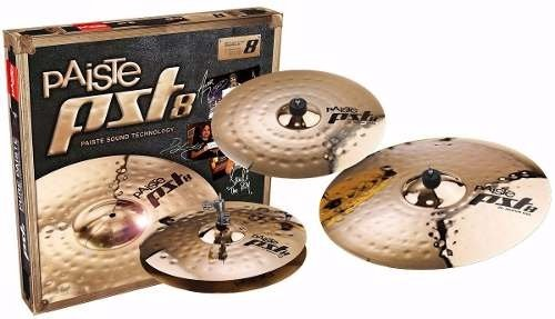 Platillo Paiste Pst8 Universal Set Hihat 14 Crash 16 Ride 20