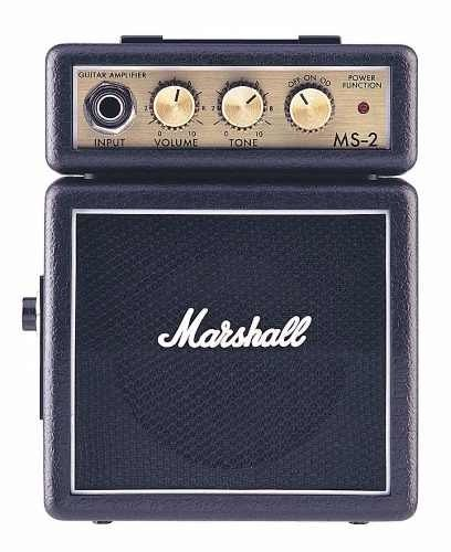Mini Amplificador Marshall Ms-2 Guitarra Portatil Navidad