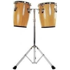 Tumbadoras Ftc8300n Set Mini Congas C/ Soporte Natural