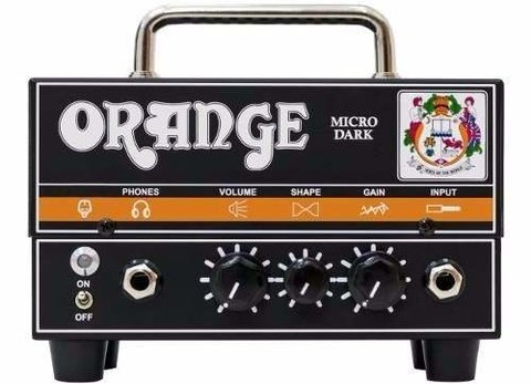 Orange Micro Dark Cabezal 20 Watts Pre Valvular Hi Gain