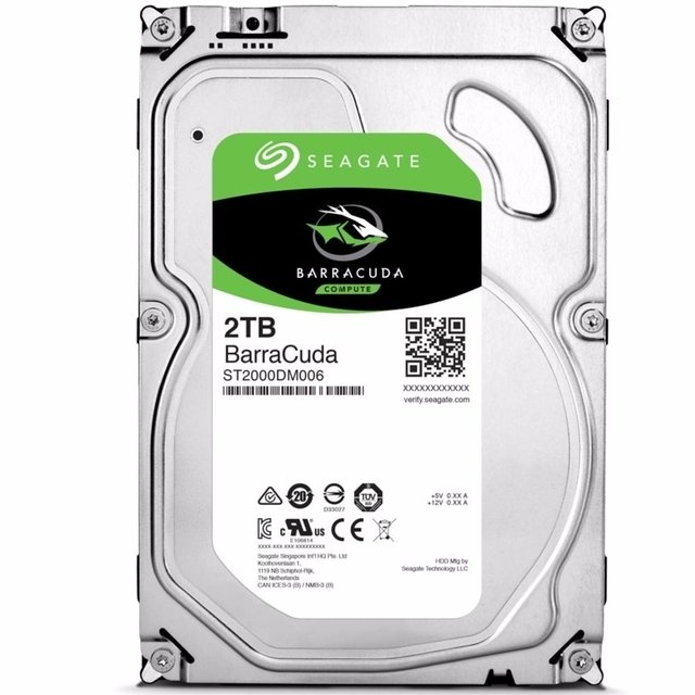 Hd Seagate Sata 3,5´ Barracuda 2tb 7200rpm 64mb Cache novo