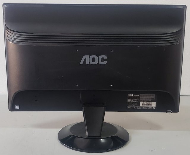 Monitor Lcd Aoc Wide 21,5 Full Hd Com Vga E Dvi usado na internet