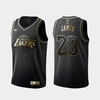 Camiseta Regata Nike Lakers preta James #23 2020