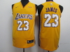 Camiseta Regata Nike Lakers Amarela/roxa James #23
