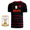 Camisa Flamengo III 2020 Masculina Patrocínios + Patch BR19 Personalizável