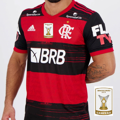 Camisa Flamengo 2020 FLA TV + Patch BR19 Masculina Personalizável