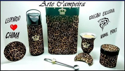 kit Chimarrão (Mateira) Leopardo