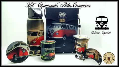 KIT CHIMARRÃO BOX ESTAMPA KOMBI