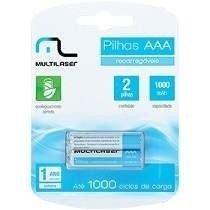 Pilhas Recarregaveis AAA Multilaser 1000...