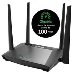 Roteador wireless 4 portas Dual Band Gigabit AC1200 RG 1200 Intelbras CX 1 UN na internet