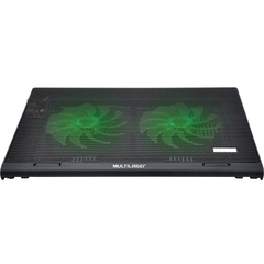 Cooler Para Notebook Warrior Power Gamer Led Verde Luminoso - AC267 na internet