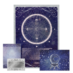 Kit Poster Fases Lunar, Bloco e Cards