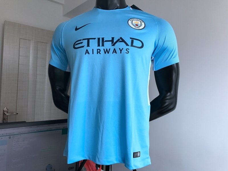 ... Camisa Manchester City Home 17 18 s nº Torcedor Nike Masculina - Azul  Claro. 15% OFF 8ab63841633a8