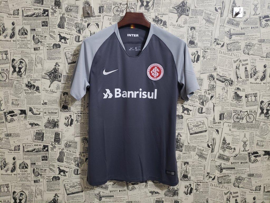 Camisa Internacional III 2018 s n° - Torcedor Nike Masculina - Cinza e  Branco 9e8c9e3d07825