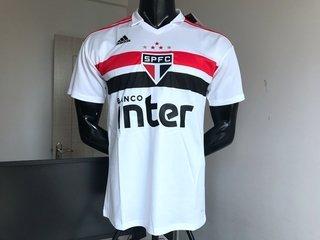 Camisa São Paulo I 2018 s n° Torcedor Adidas Masculina - Branco e Vermelho dad7632bafa