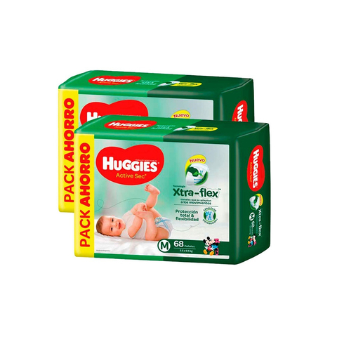 Huggies Active Sec TALLE M
