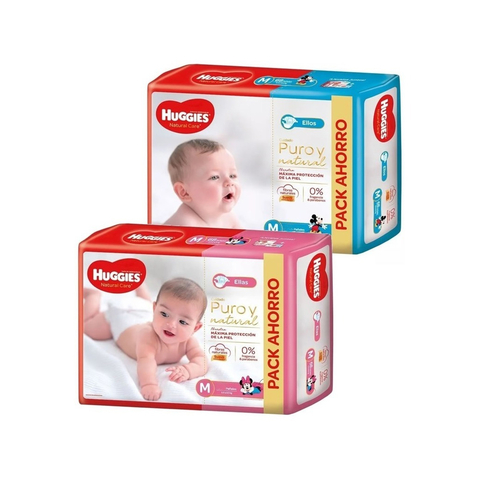 Huggies Natural Care Ellos y Ellas (M)