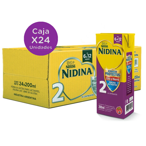 Nidina  2 X200 Ml (pack x 24u)