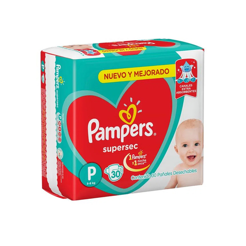 Pampers P Super Sec x 30