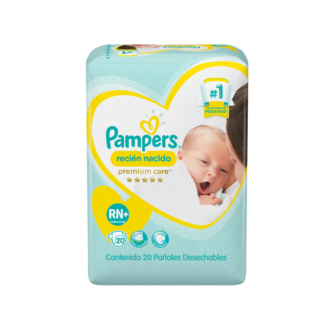 Pampers RN+ Premium care x20