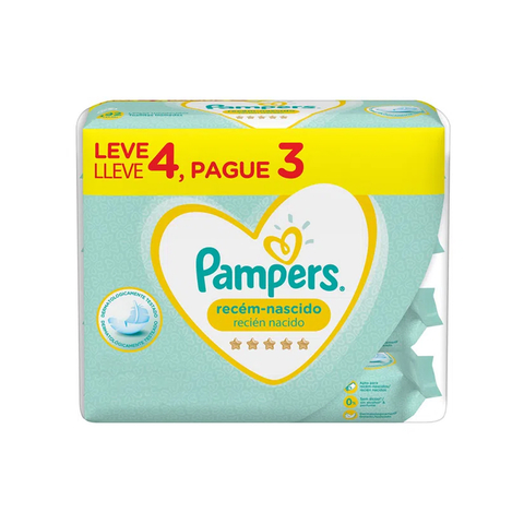 Toallitas Pampers Recien Nacido Promo 4x3 (192 Unid)