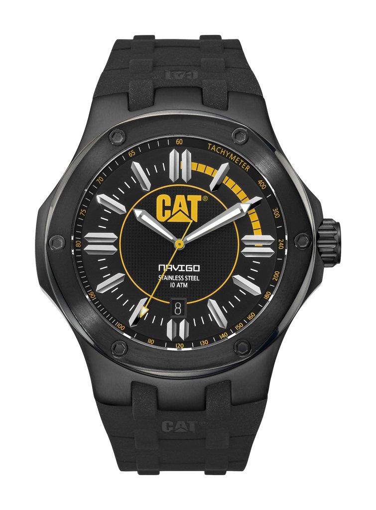 54083c3ffc99 RELOJ CAT CABALLERO LINEA NAVIGO CAJA DE ACERO CORREA DE CAUCHO SUMERGIBLE  100M A1.161.21.127