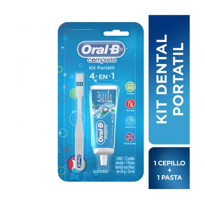 Oral B Kit Portátil Pasta Dental Complete 4en1 + Cepillo