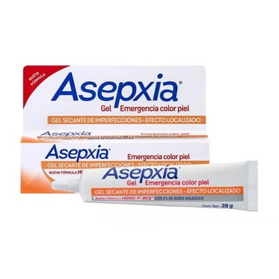 Asepxia Gel Emergencia Color Piel X 28grs
