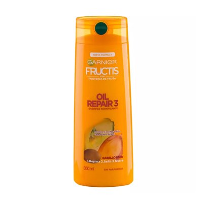 Garnier Fructis Shampoo Cabellos Secos Oil Repair 3 X 350ml