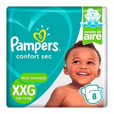 Pampers Pañales Confort Sec Xxg X 8 Unidades