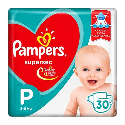 Pampers Pañales Supersec P X 30 Unidades