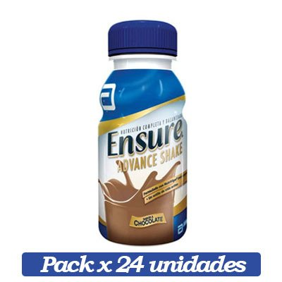 Ensure Advance Shake X 24 Unidades De Chocolate X 237ml C/u