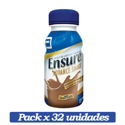 Ensure Advance Shake X 32 Unidades De Chocolate X 237ml C/u