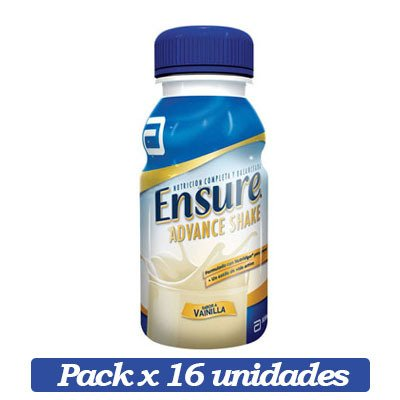 Ensure Advance Shake X 16 Unidades De Vainilla X 237ml C/u