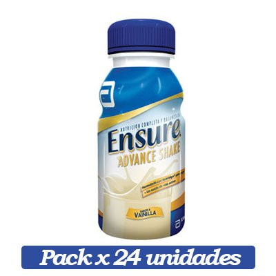 Ensure Advance Shake X 24 Unidades De Vainilla X 237ml C/u
