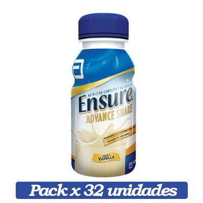 Ensure Advance Shake X 32 Unidades De Vainilla X 237ml C/u