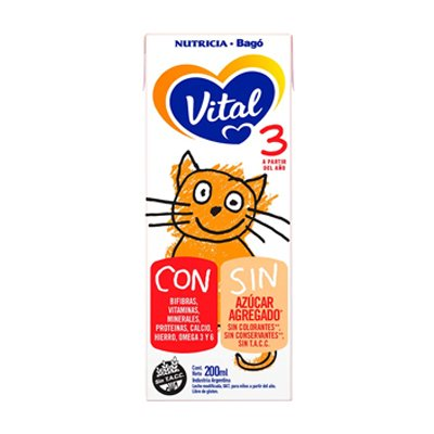 Vital 3 Leche Liquida 30 Bricks X 200ml