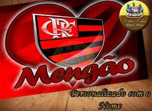 Flamengo Papel Arroz A4 Time Com Nome Pode Retirar Z L